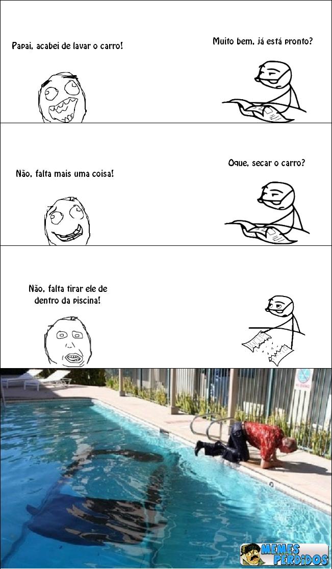 Lavando o carro de uma maneira idiota