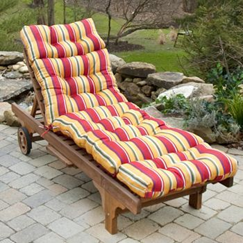 Greendale Home Fashions Outdoor Chaise Lounge Cushion Con
