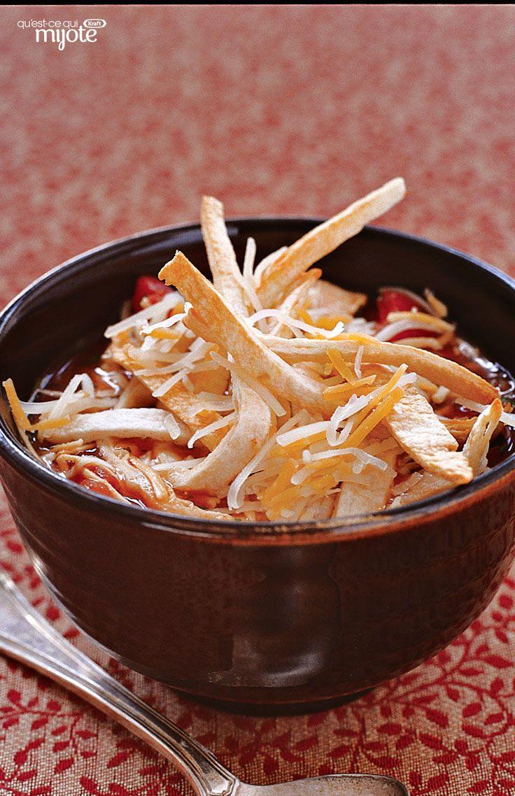 Soupe tortilla au poulet - Une soupe qui réchauffe