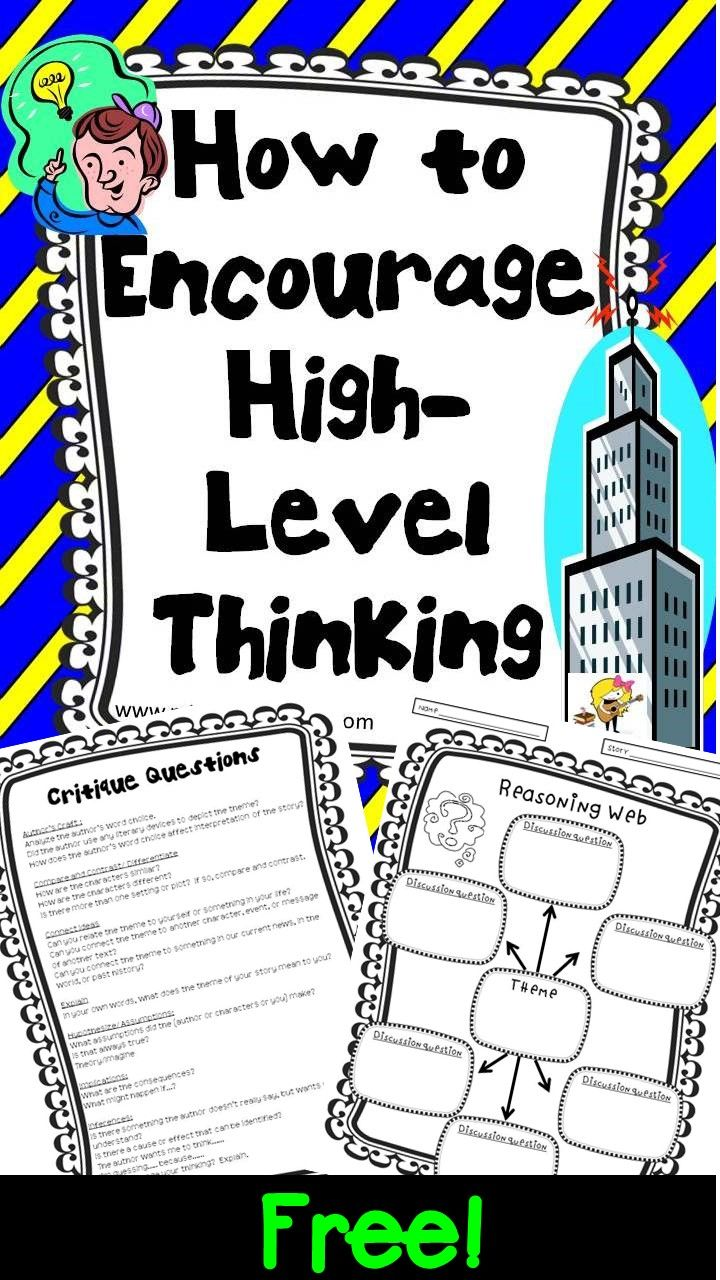 Want To Make Gifted Education More >> Higher Level Thinking Lesson Plans And Printables For Any Book