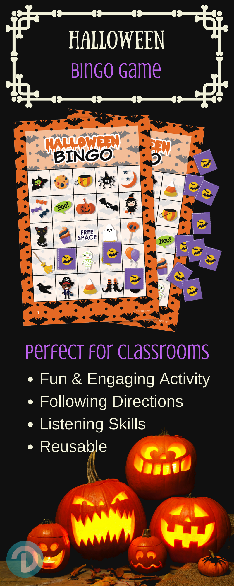 Halloween Bingo Game Set For Up To 24 Players Perfect Family Friendly Halloween Game For Children Halloween Bingo Halloween Party Kids Halloween Bingo Game