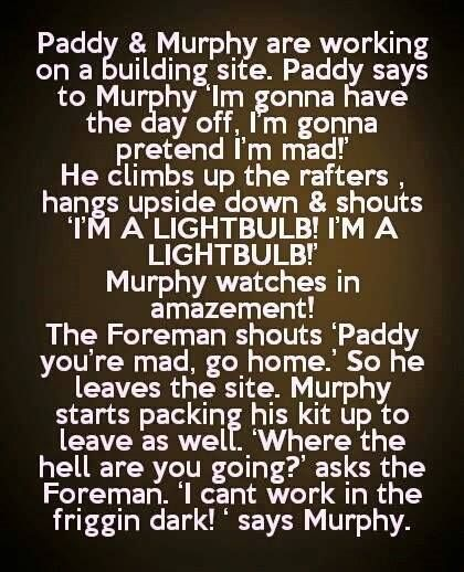 Best paddy and murphy jokes