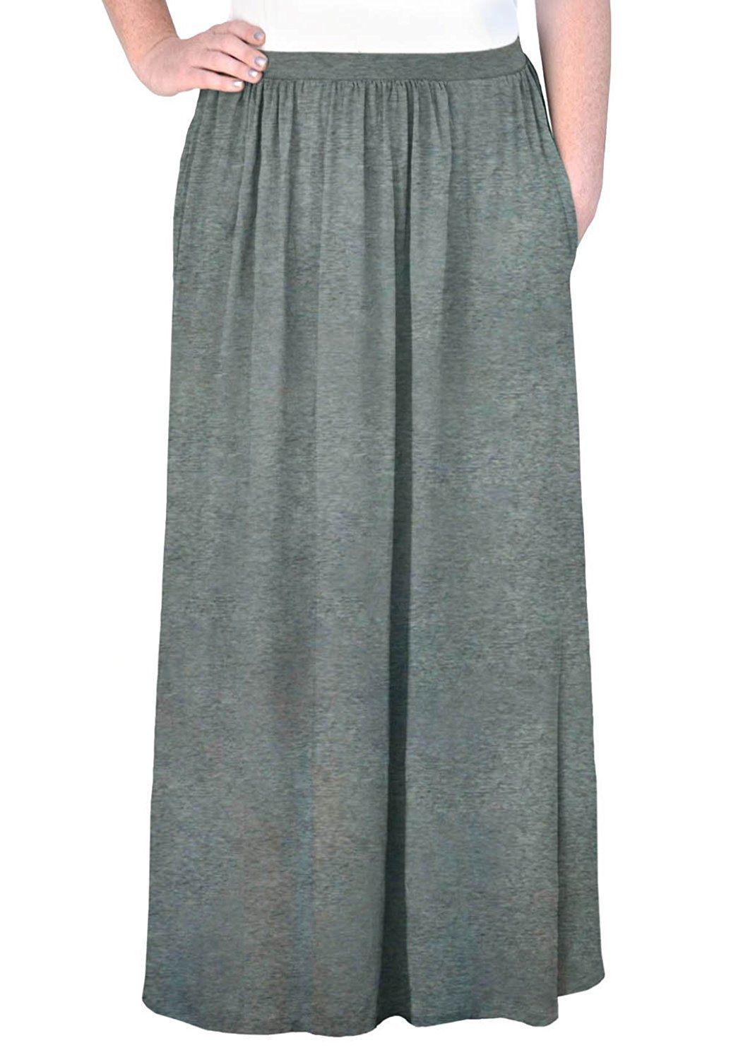 9279e0c479f4 Kosher Casual Women's Modest Long Flowing Skirt With Pockets >>> This is an  Amazon Affiliate link. Click image to review more details.