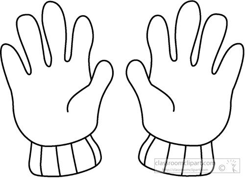 White Glove Clip Art With Images Drawing Clothes Drawings