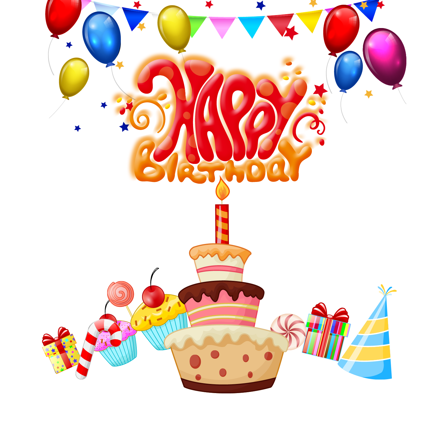 Pin By Pngsector On Happy Birthday Transparent PNG Image Clipart