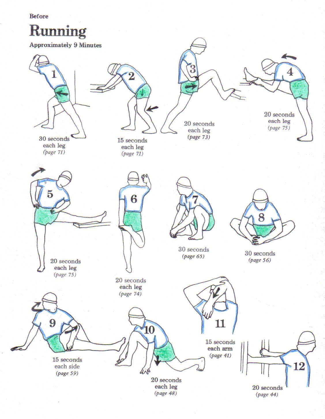 Estiramientos antes de correr