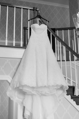 All Lace Strapless A Line Bridal Gown
