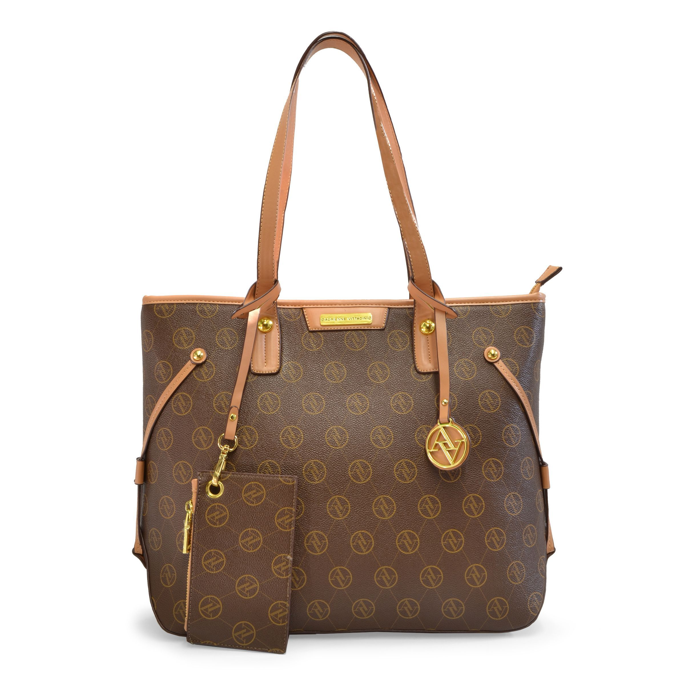 b0b96159d47 Adrienne Vittadini Signature Vegan Tote Bag, Women's | Beauty | Bags ...