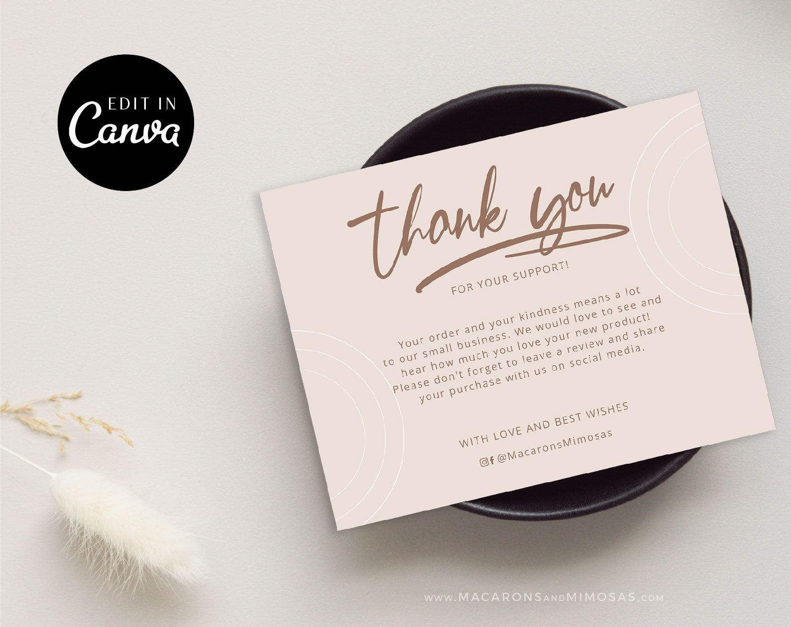 Violet Thank You Cards Macarons And Mimosas Business Card Template Design Business Thank You Cards Thank You Cards