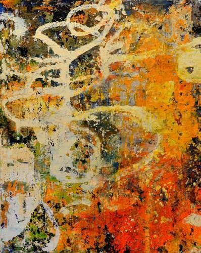 "Bill Gingles, Delirium, 2014, Acrylic on canvas, 20"" x 16"""