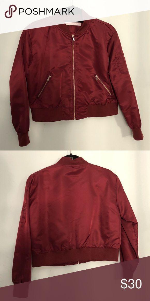 Cropped Bomber Jacket | jacken | Rosa bomberjacke, Jacken