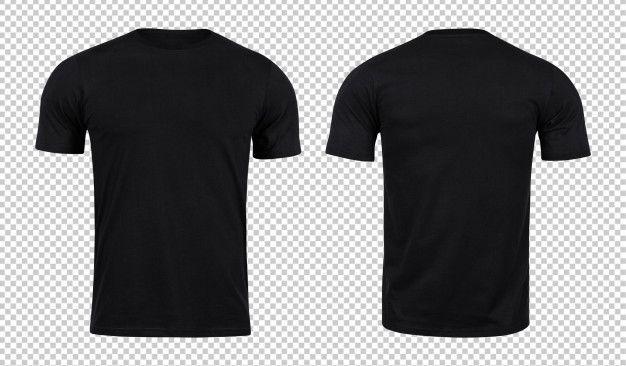 Download Black Tshirts Mockup Front And Back Plain Black T Shirt Black Collared Shirt Polo Shirt Design
