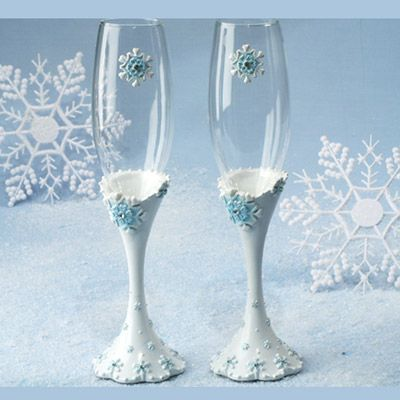 Snowflake Champagne Glasses