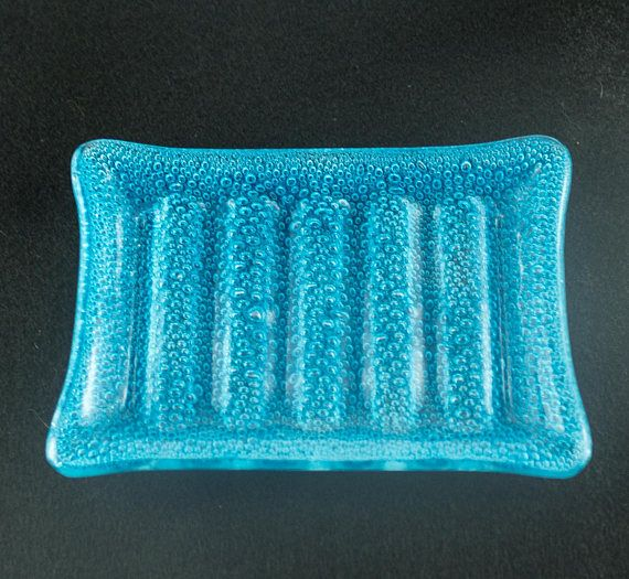 Best Handmade Bar Soap Dish Kitchen Sponge Holder Aqua Blue 400 x 300