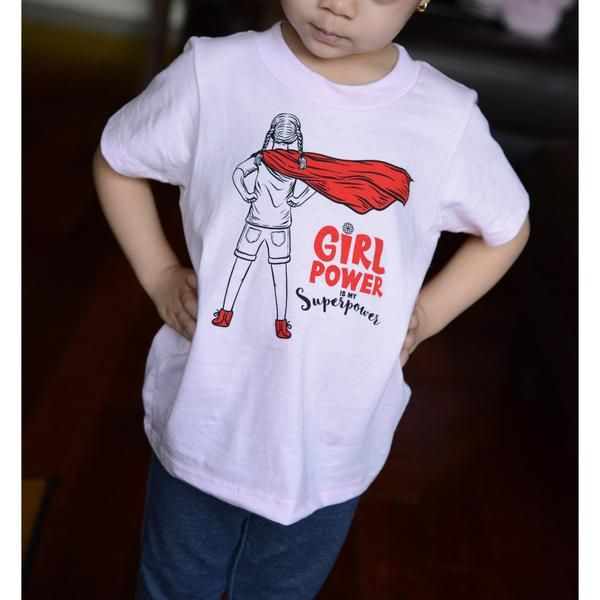 935511f1 Girl Power Is My Super Power - Toddler Organic Cotton T-shirt ...