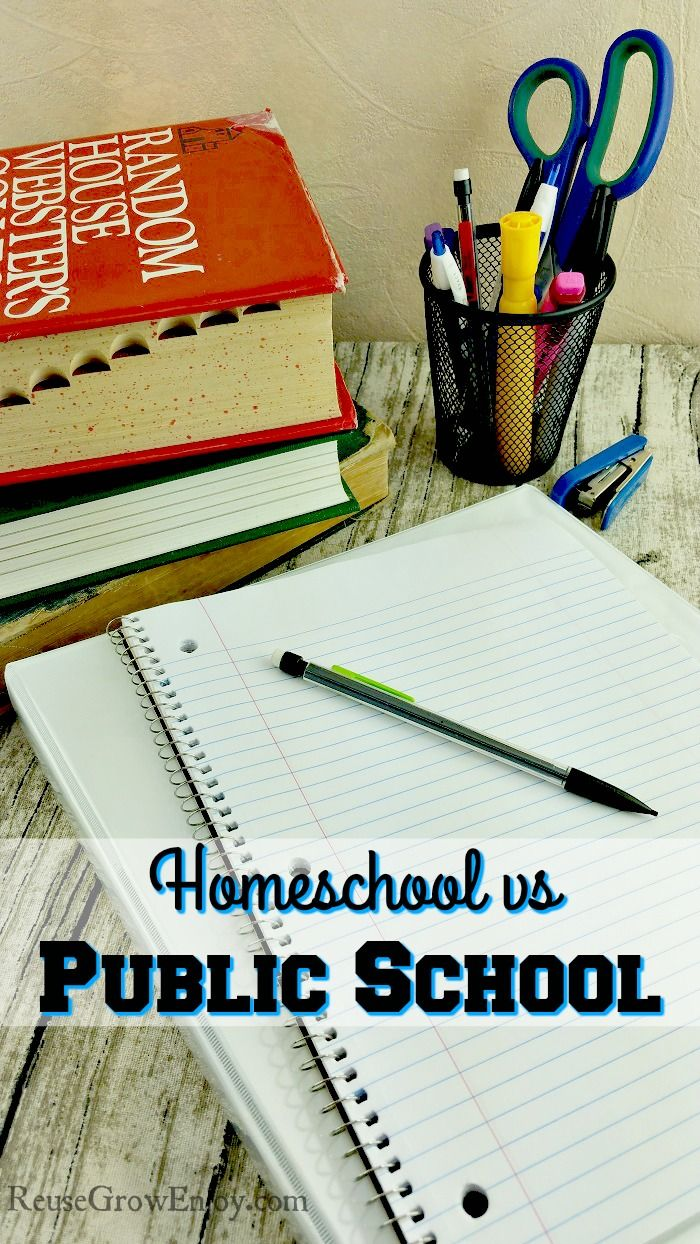 Are you trying to figure out if you should homeschool or send to public school? Check out my take on Homeschool vs Public School.  http://reusegrowenjoy.com/homeschool-vs-public-school/