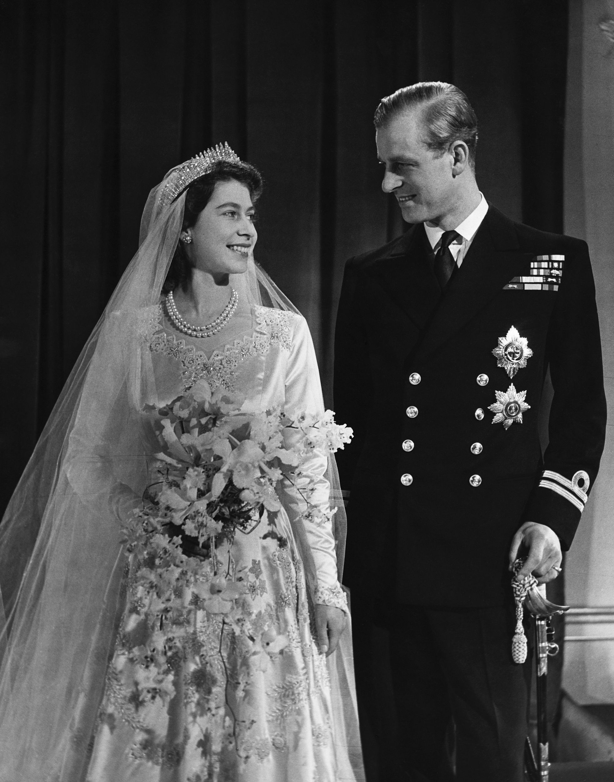 Queen Elizabeth II and The Duke of Edinburgh celebrate