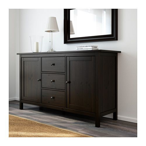 hemnes sideboard black brown hemnes and ikea. Black Bedroom Furniture Sets. Home Design Ideas