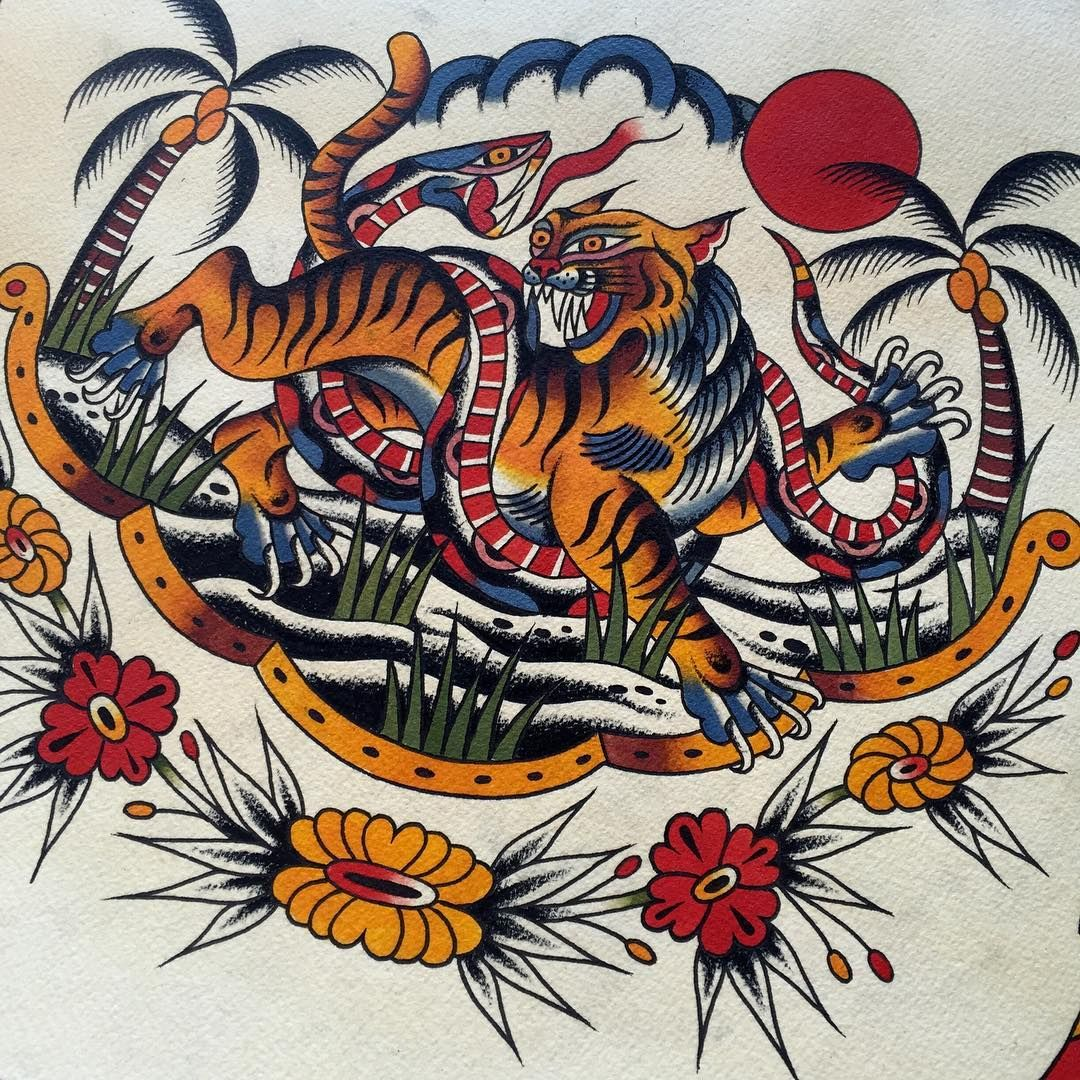Tigre japonais fashion designs - Tatouage tigre japonais ...