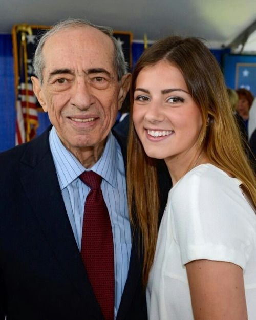 Former New York Governor Mario Cuomo With His Grandaughter Michaela Kennedy Cuomo Kennedy Family Celebrity Families Kennedy