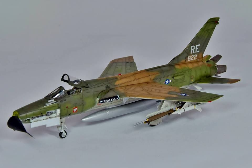 F 105 Thunderchief Submitted By Modeler Sebastian Piechowiak 1 72 Scale Trumpeter Aircraft Modeling Aircraft Model Hobbies