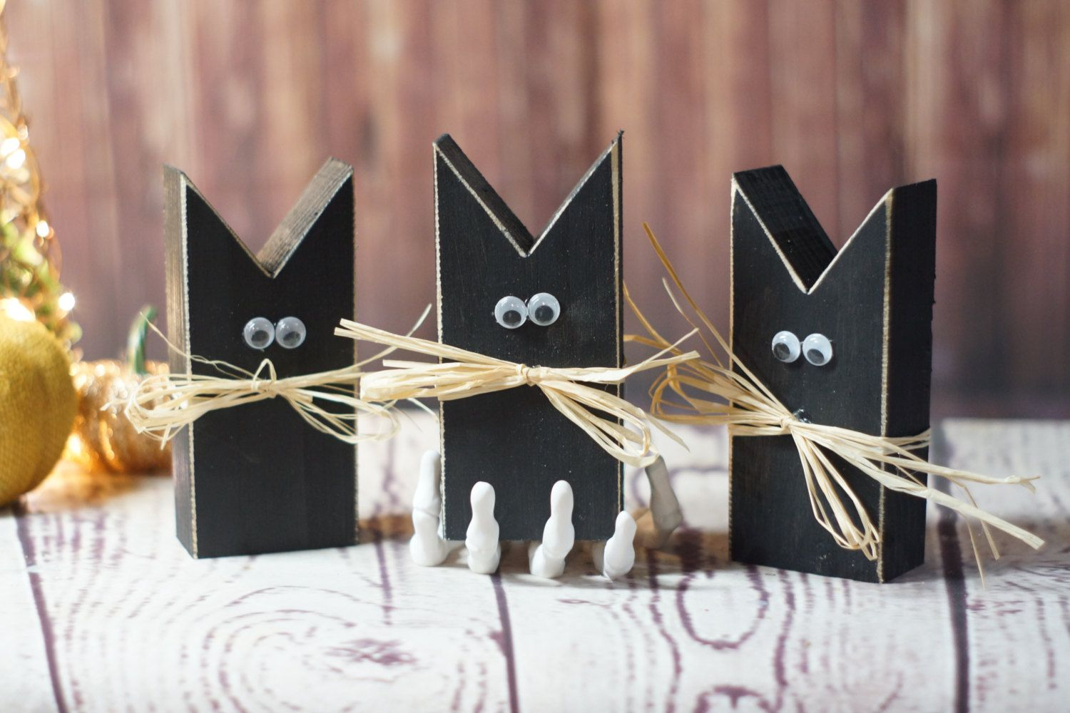 Mini Primitive Black Cat -Halloween Decor - Halloween Decorations - Primitive Halloween Decor