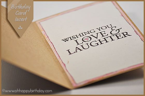 Birthday Card Inserts Greeting