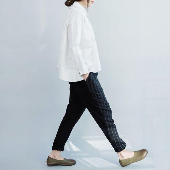women loose cotton tops/women spring clothing/women by babyangella