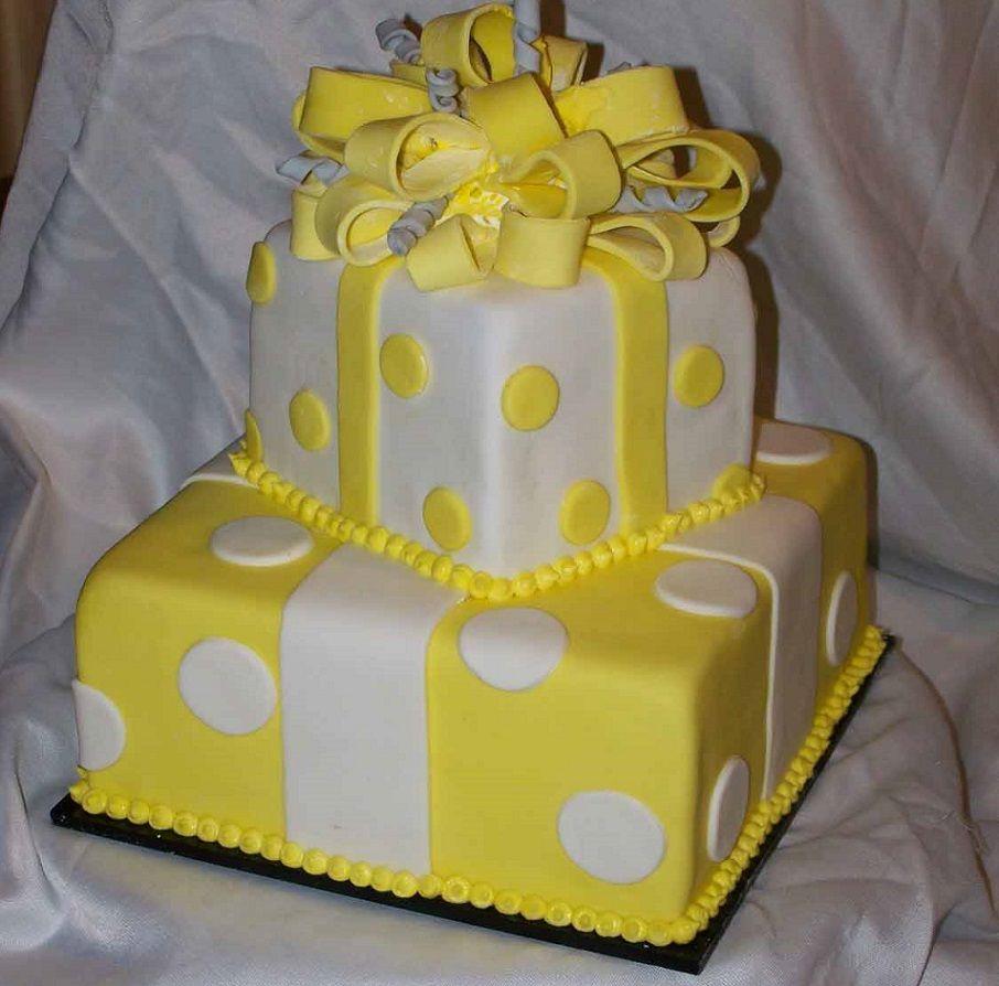 Bridal Shower Cake: Yellow And White Wedding Cake Designs   Wedding ...
