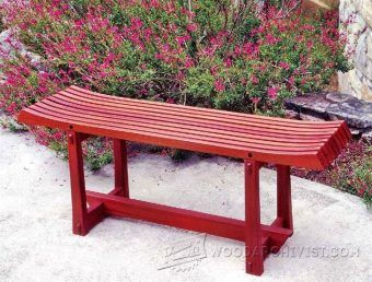 Japanese Garden Bench Plans Outdoor Furniture Plans And