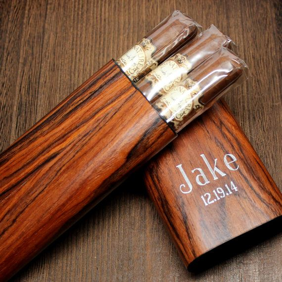 Timber Cherry Wood Cigar Case with Interior by TheBestManGifts
