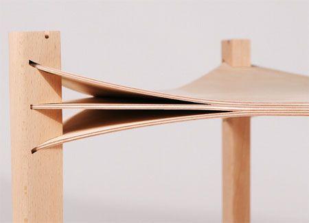 Entre Les Lignes: A Unique Plywood Table