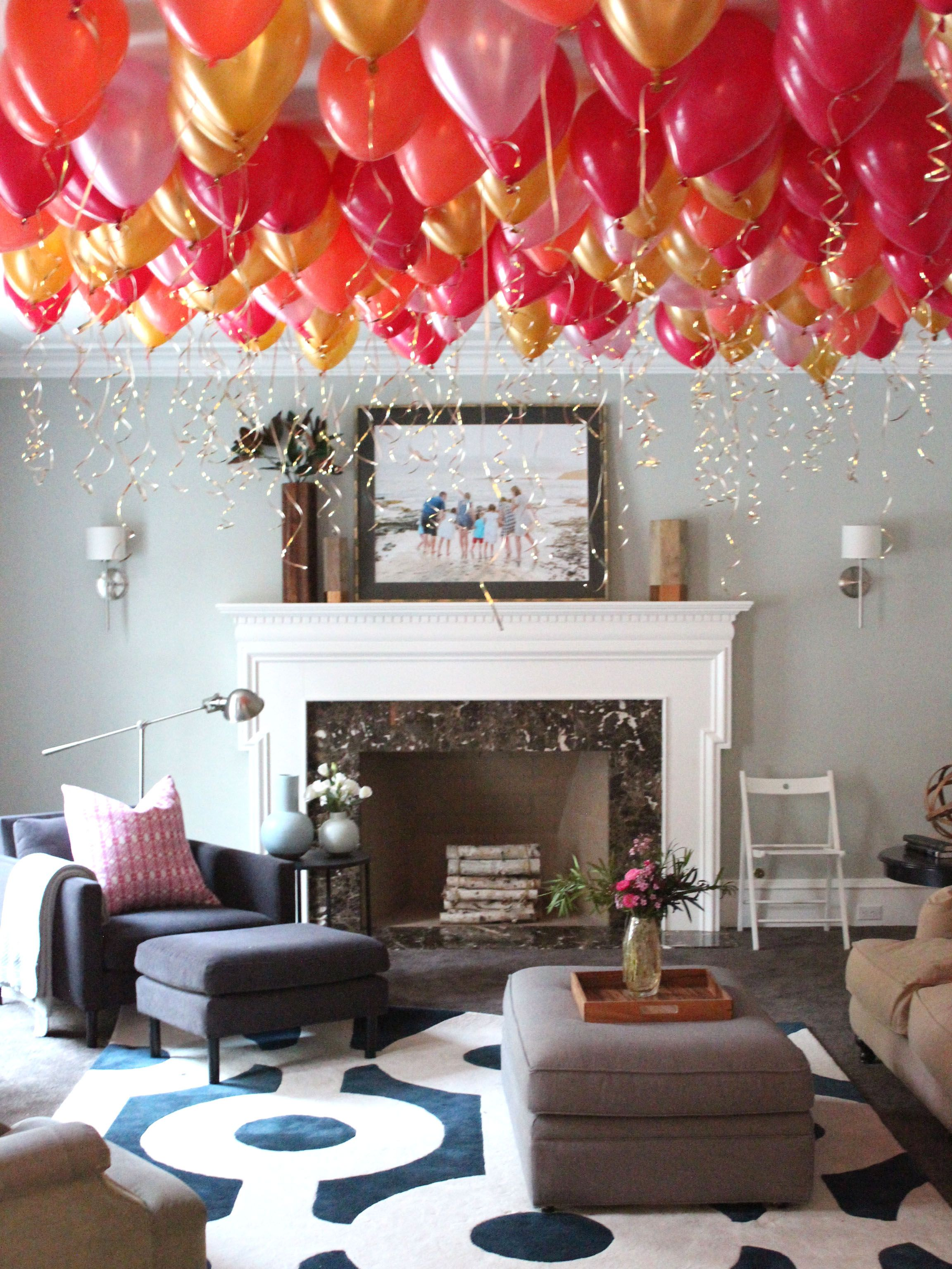 Balloon Party Room Birthday Room Decorations Decor Small Living Room