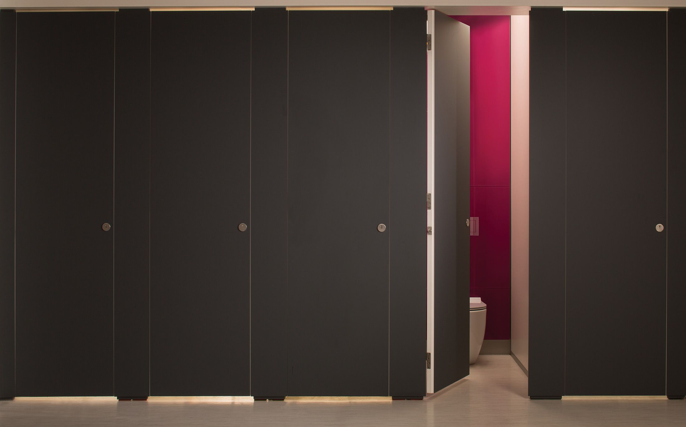 Bathroom Stalls England full height flush fronted alto fenix toilet cubicle manufactured