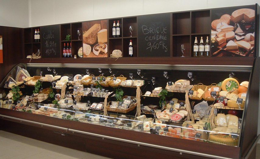 Agencement Vitrine Habillage Vitrine Fromage - Someva, Agencement Magasin