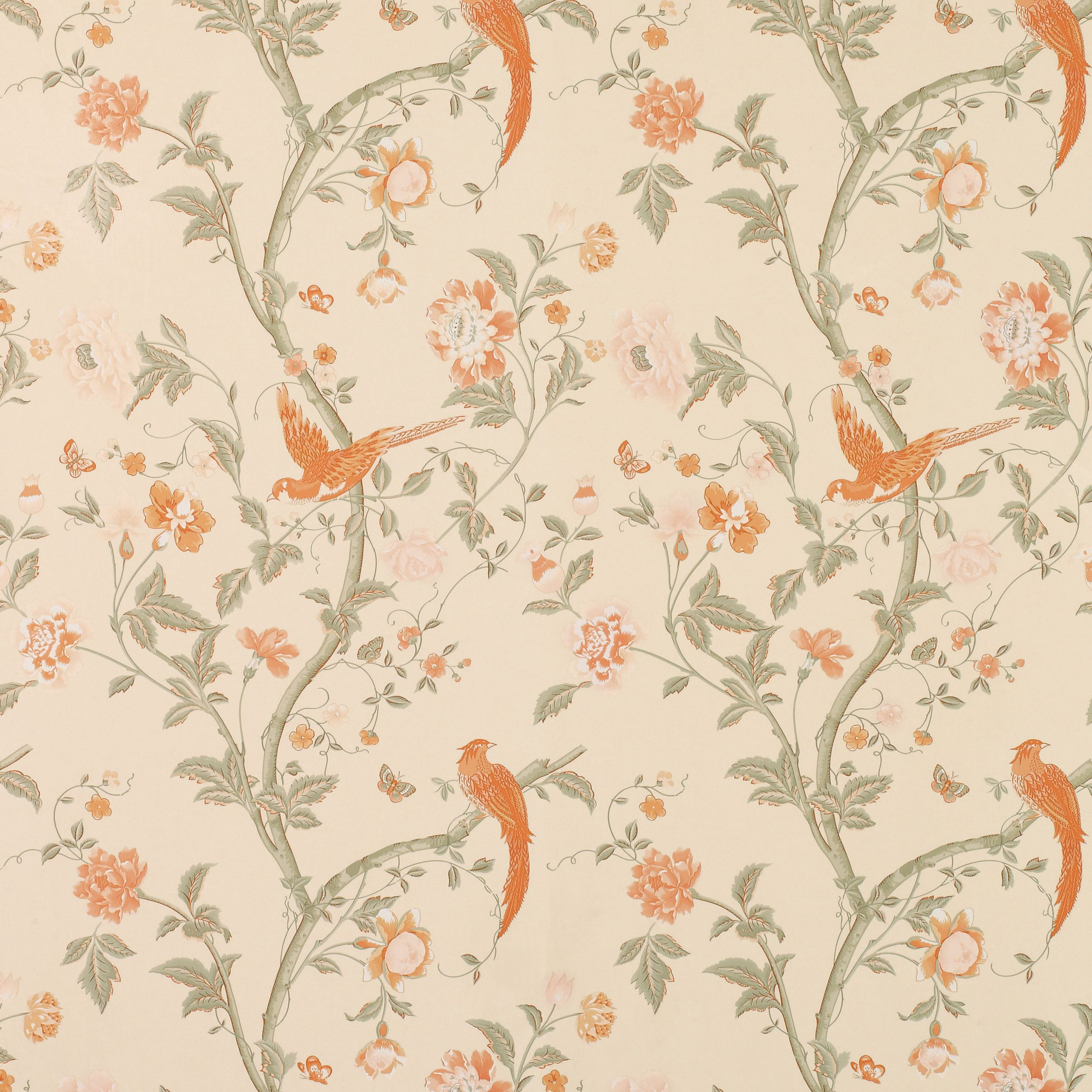 Laura Ashley Summer Palace Terracotta Wallpaper Floral