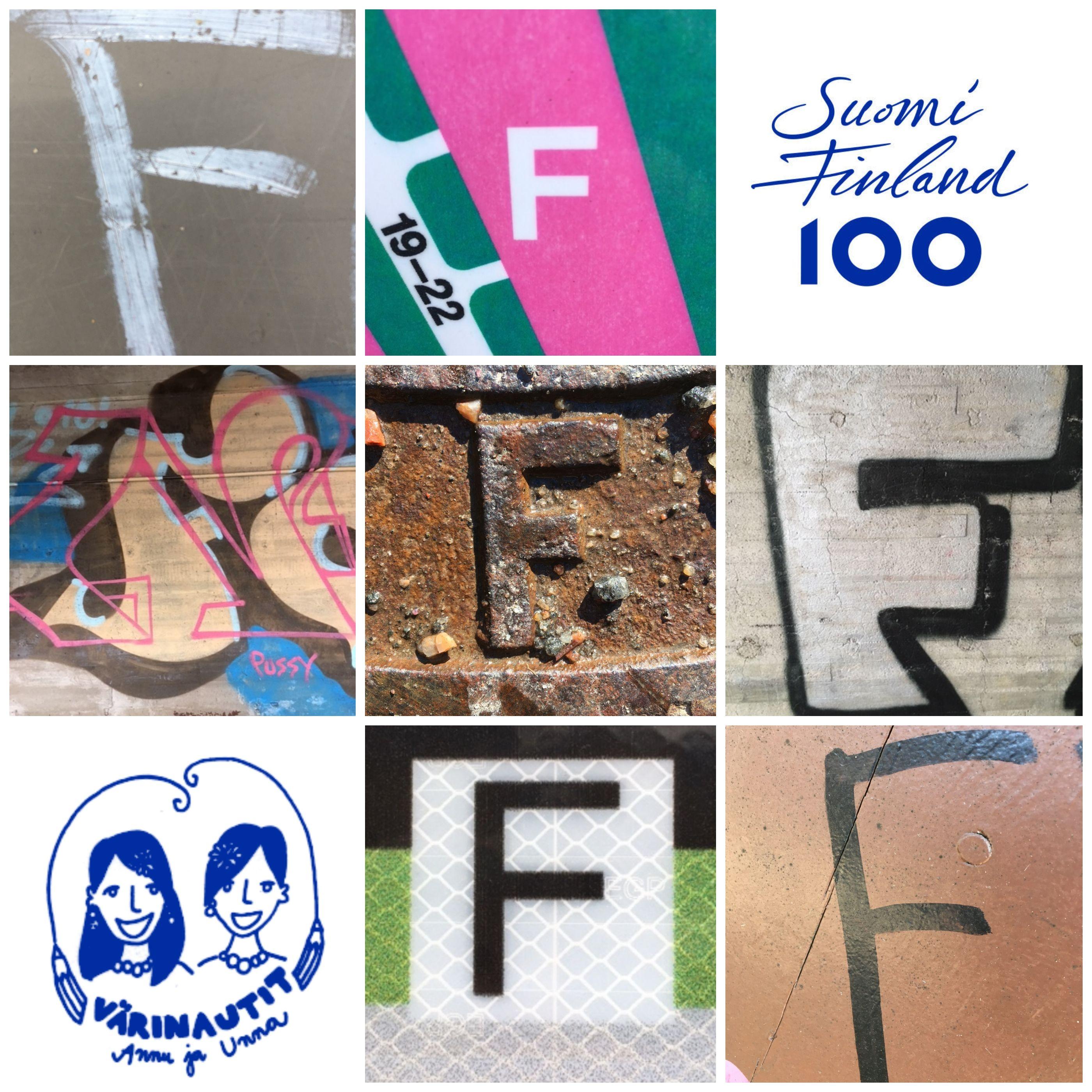 Aakkosbongaus F-kirjaimia