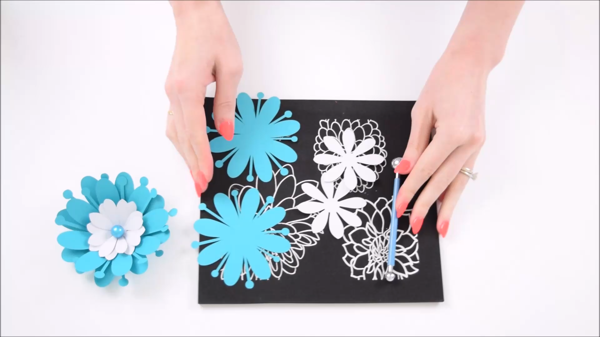 Easy and Simple Beginner's Paper Flower Tutorial  #easypaperflowers