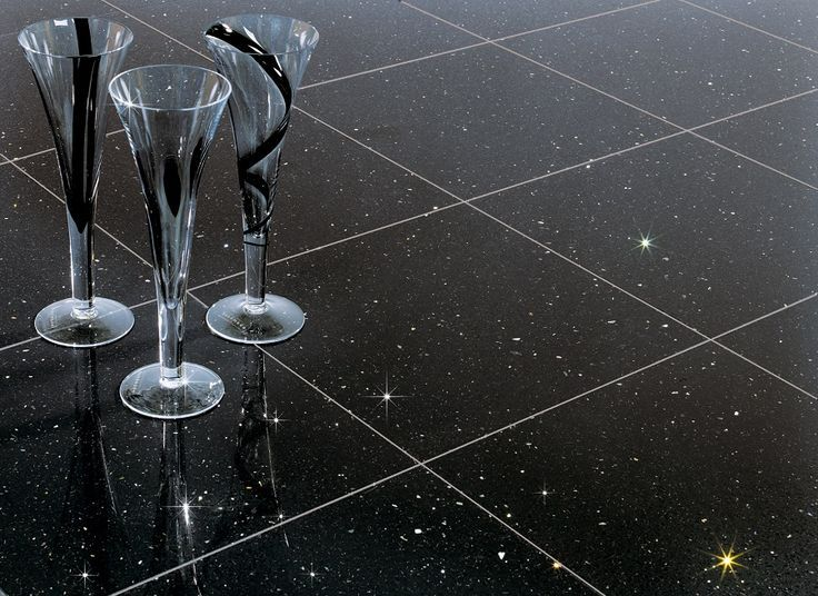 Star Galaxy Ist Ein Fein Bis Mittelkörniges Schwarzes Material Der - Schwarze fliesen mit glitzer