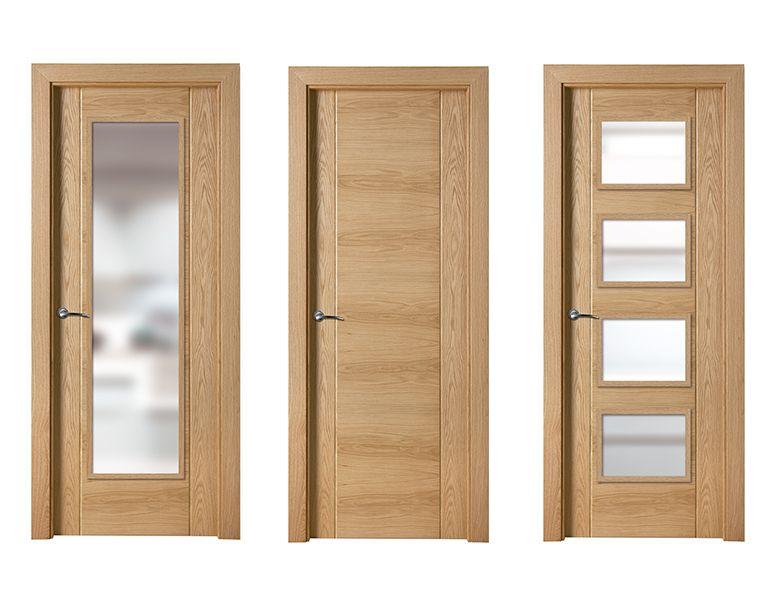 Puerta de interior clara modelo rub de la serie euro de for Puertas castalla