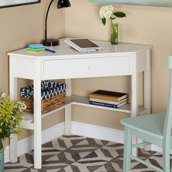 The Lovely Side 10 Desk Options For Small Spaces Diyhomedecorsmallspaces Desks For Small Spaces Corner Writing Desk Apartment Decor
