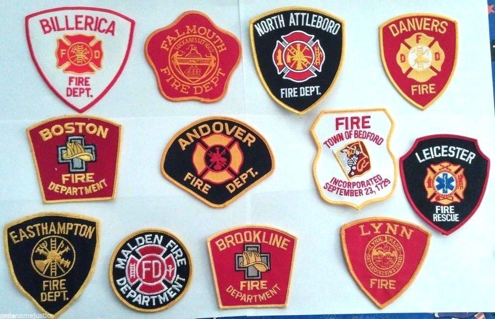 Massachusetts Worcester Firefighter MA Fire Dept Patch