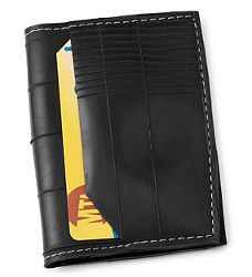 recycled tire rube wallet, love it.