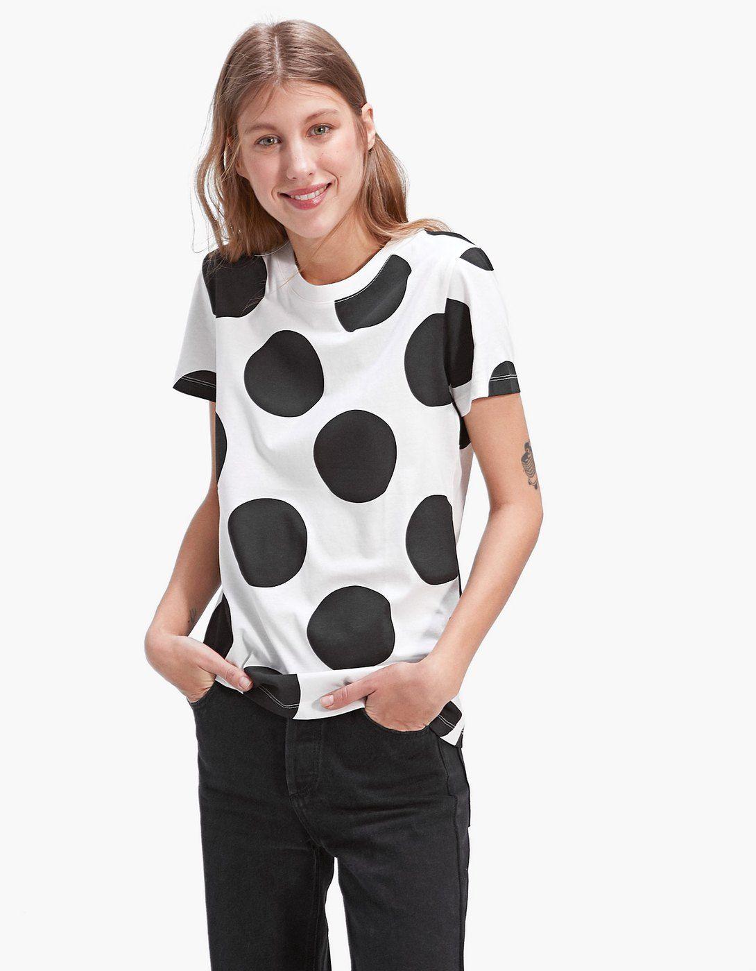 395bdc18b4e Short sleeve T-shirt with large polka dots - Dots a lot ...