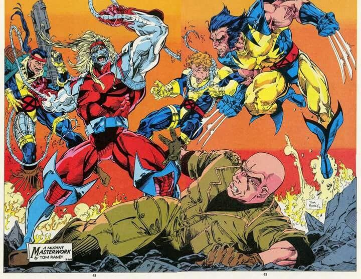 Wolverine vs Omega Red by Tom Raney