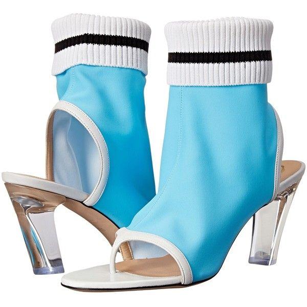 Viktor & Rolf Open Toe Lycra Bootie (Sky Blue) Women's Boots ($238)