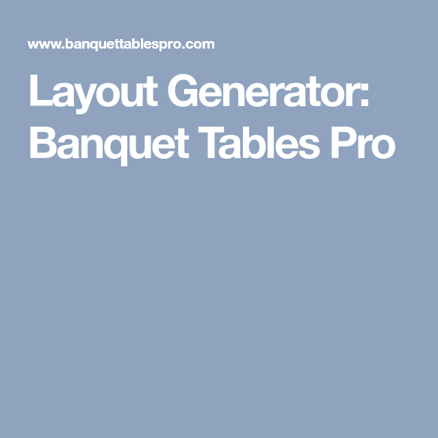 layout generator banquet tables pro wedding pinterest banquet