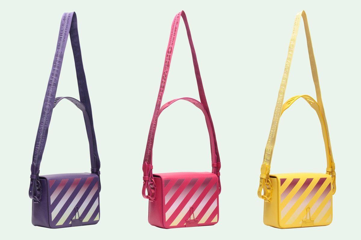 35caeed56205 Off-White Binder Clip Bag Gradient Diagonals Pink Yellow Purple Virgil Abloh  Release Price Where to Buy Online Store Handbag Designer Brand Streetwear