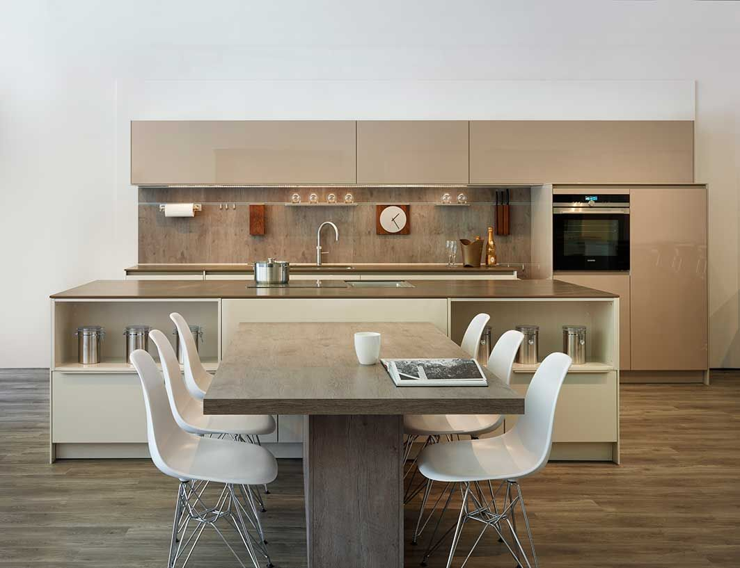 Snug Kitchens Newbury Pronorm XLine Kitchen Display Wall Units Are - Grey kitchen wall units