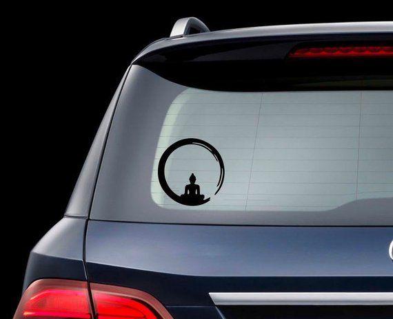 3/'/' 5/'/' or 6/'/' Yoga Meditation Emblem Car Bumper Sticker Decal